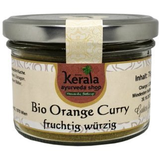 Bio Orange Curry 75g Glas